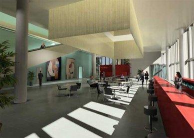 Messeturm - Vizualizace vstupního lobby - foto: © Morger+Degelo