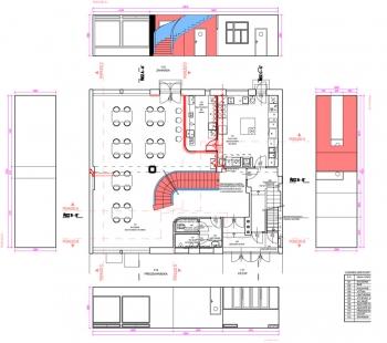Rekonstrukce kavárny Era - Půdorys 1.np - foto: VELEK, VELKOVÁ, VELEK ARCHITEKTI