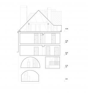 Rekonstrukce a úprava měšťanského domu - Řez příčný