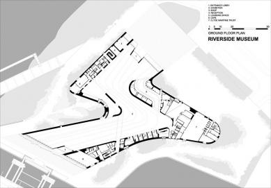 Muzeum dopravy - Půdorys přízemí - foto: Zaha Hadid Architects