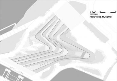 Muzeum dopravy - Výkres střechy - foto: Zaha Hadid Architects