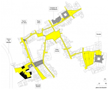 Městské divadlo v Zafra - Situace - foto: KRAHE arquitectos