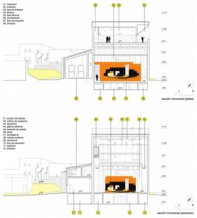 Městské divadlo v Zafra - Příčné řezy - foto: KRAHE arquitectos