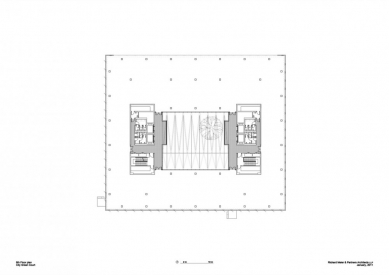 City Green Court - Půdorys 8.np - foto: Richard Meier & Partners