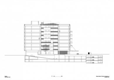 City Green Court - Řez - foto: Richard Meier & Partners