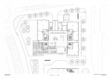 City Green Court - Půdorys přízemí - foto: Richard Meier & Partners