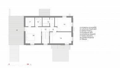 Rodinný dům ve Zdibech - Půdorys 2NP