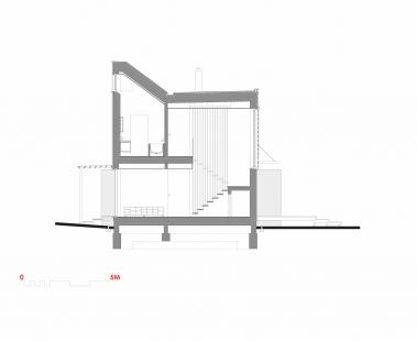 Rodinný dům ve Zdibech - Příčný řez