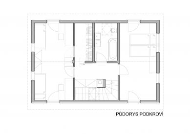 Rodinný dům Horažďovice  - Půdorys 2NP
