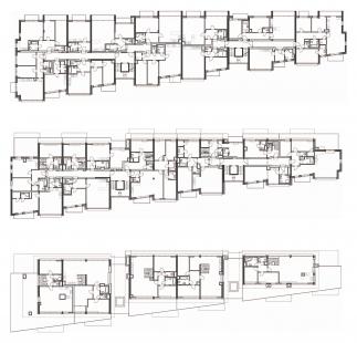 Bytový dům OÁZA MICHLE - Půdorys typického podlaží, 5NP a 6NP