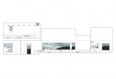 Rodinný dům Hutisko - Solanec - Prostorové schéma interiéru