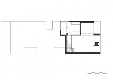 Rodinný dům v Roudném - Půdorys 2NP