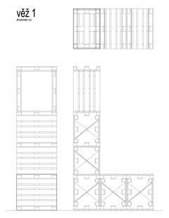 Instalace výstavy Současný český industriál - Věž 1