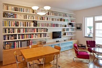 Interiér bytu v ulici Střední - Brno - Obývací pokoj - foto: Štěpán Vrzala