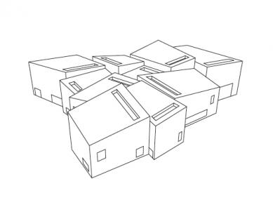Galerie Hepworth Wakefield - Axonometrie - foto: David Chipperfield Architects