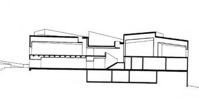 Galerie Hepworth Wakefield - Řez A-A' - foto: David Chipperfield Architects