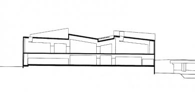 Galerie Hepworth Wakefield - Řez B-B' - foto: David Chipperfield Architects