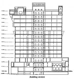 Portland Building - Řez - foto: Michael Graves & Associates