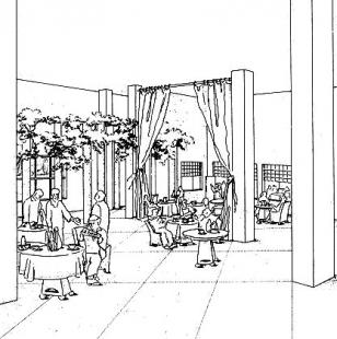 Portland Building - Perspektiva vstupní lobby