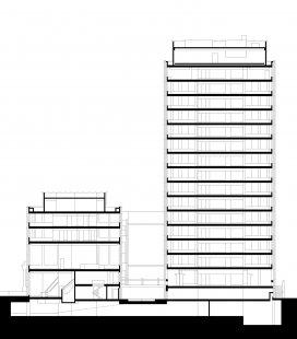 Economist Building - Řez