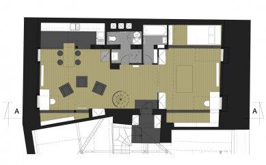 Rekonstrukce bytu Valdštejnská 2 - Půdorys