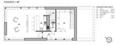 Rodinný dům Ráječko - Půdorys 1NP