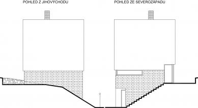 Rodinný dům Ráječko - Pohled JV a SZ