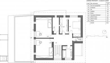 Rekonstrukce rodinného domu v Děhylově - Půdorys 2NP - foto: WMA architects