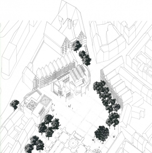 Ulm Exhibition and Assembly Building - Axonometrie - foto: Richard Meier & Partners Architects LLP