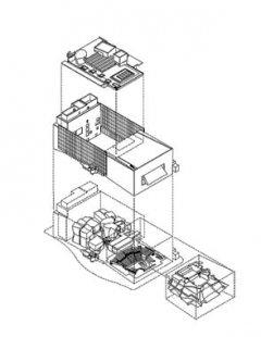 New World Symphony - Rozložená axonometrie - foto: Gehry Partners, LLP