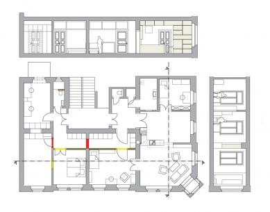 Rekonstrukce bytu v Děčíně - Půdorys - 2. etapa - foto: 3+1 architekti