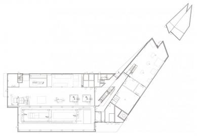 Laserové centrum - Půdorys přízemí - foto: blauraum architekten GmbH