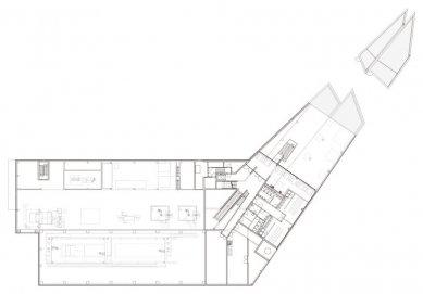 Laserové centrum - Půdorys 1.np - foto: blauraum architekten GmbH