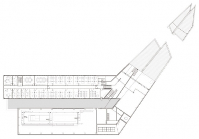 Laserové centrum - Půdorys 2.np - foto: blauraum architekten GmbH