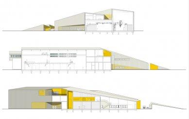 Laserové centrum - Řezy - foto: blauraum architekten GmbH