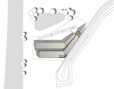 Laserové centrum - Situace - foto: blauraum architekten GmbH
