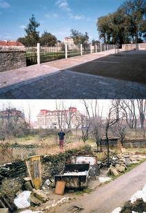 Klášterní zahrady v Litomyšli - před a po realizaci
