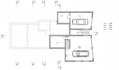 Rodinný dům ve svahu - 1PP