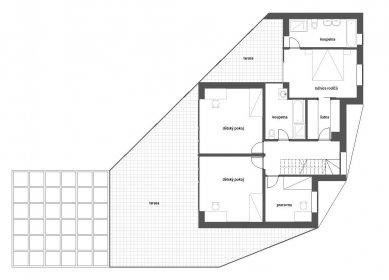 Rodinný dům v Kunraticích - Půdorys 2NP - foto: Architektura s.r.o.