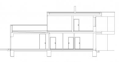 Rodinný dům v Kunraticích - Řez - foto: Architektura s.r.o.