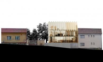 Dům - zahrada vDolních Chabrech - Uliční pohled - foto: Šépka architekti