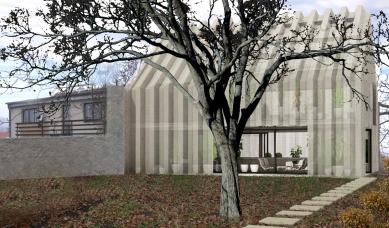 Dům - zahrada vDolních Chabrech - Pohled ze zahrady - foto: Šépka architekti