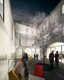 Rekonstrukce a dostavba Regionálního muzea v Kolíně - Vizualizace - foto: IHARCH