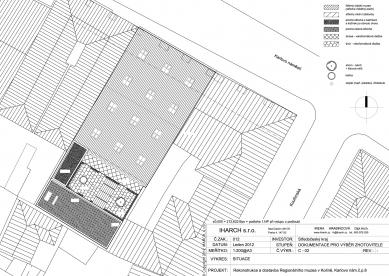 Rekonstrukce a dostavba Regionálního muzea v Kolíně - Situace - foto: IHARCH