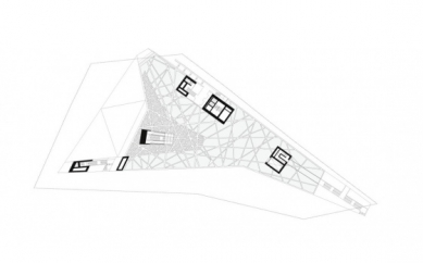 Porsche Museum - Otevřené mezipodlaží - foto: Delugan Meissl Associated Architects
