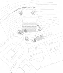 Dům ve svahu - Situace - foto: Froelich & Hsu Architekten