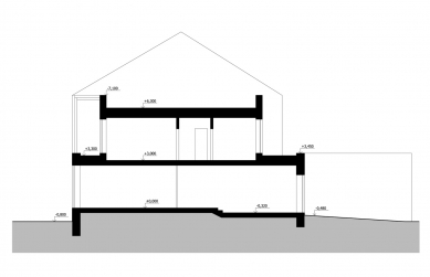Rodinný dům v Opavě - Řez