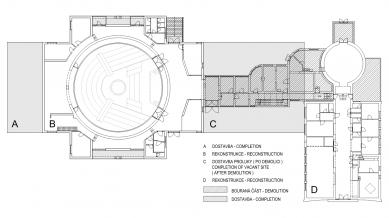 Hvězdárna a planetárium Brno - Srovnání původního a nového stavu - foto: Rudiš-Rudiš architektonická kancelář