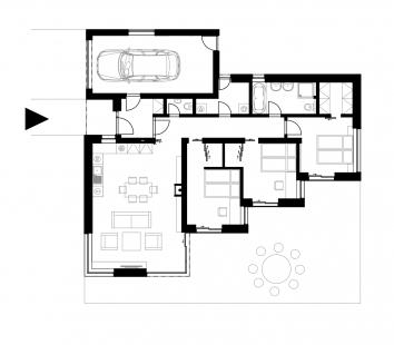 Rodinný dům v Radvanicích - Půdorys - foto: Master Design s.r.o.