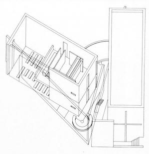 Nědělní škola - Axonometrie - foto: Tadao Ando Architects & Associates